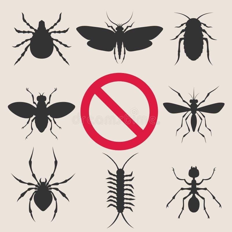 Parasites d'insecte à la maison illustration de vecteur