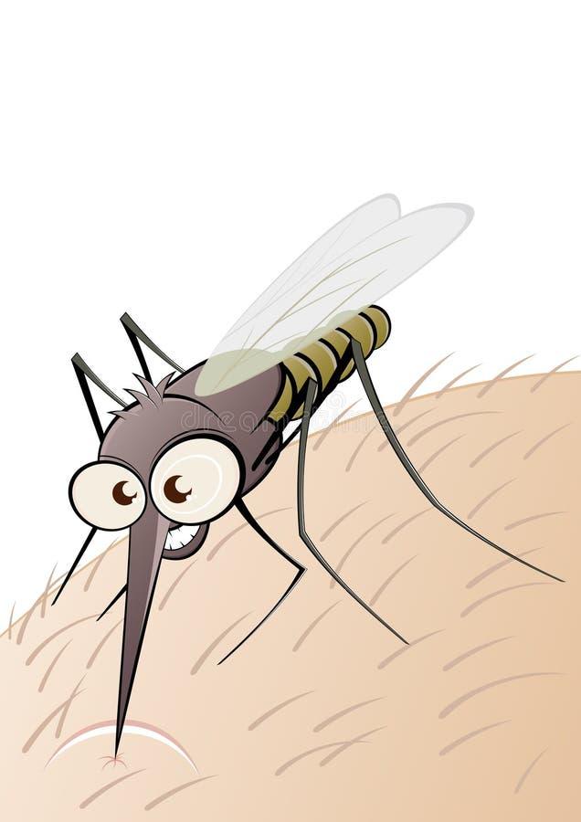 Parasitisch insect op vlees royalty-vrije illustratie