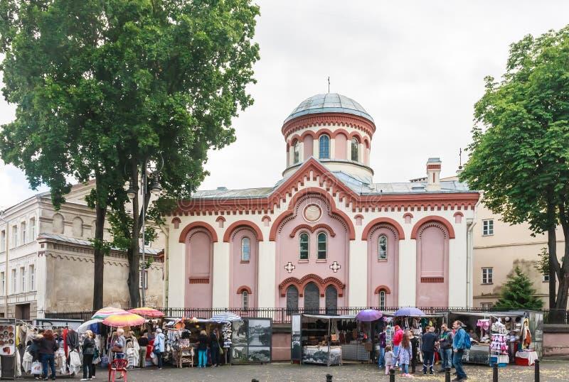 Paraskeva Church Rua de Didzioji, Vilnius fotografia de stock royalty free