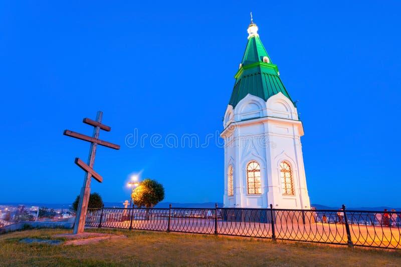 Paraskeva Pyatnitsa Chapel, Krasnoïarsk photos stock