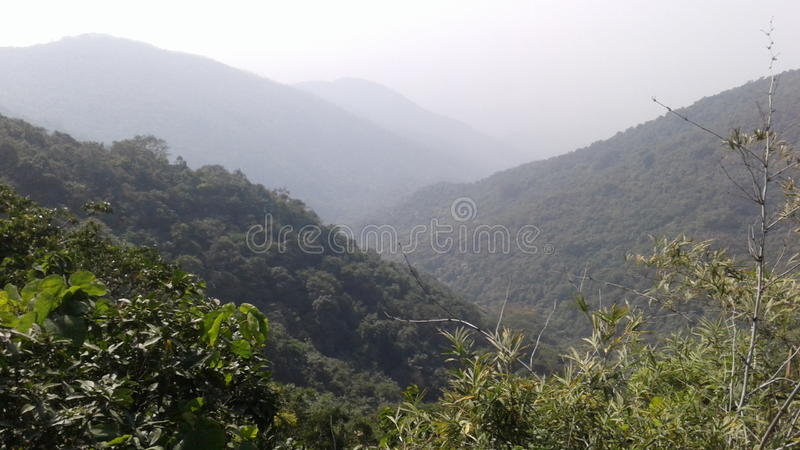 Parasnath. Hill Natural scene with ghati royalty free stock photo