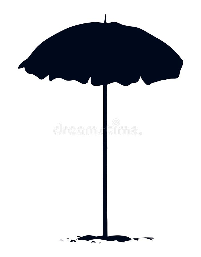 parasol ανασκόπηση που σύρει το floral διάνυσμα χλόης ελεύθερη απεικόνιση δικαιώματος
