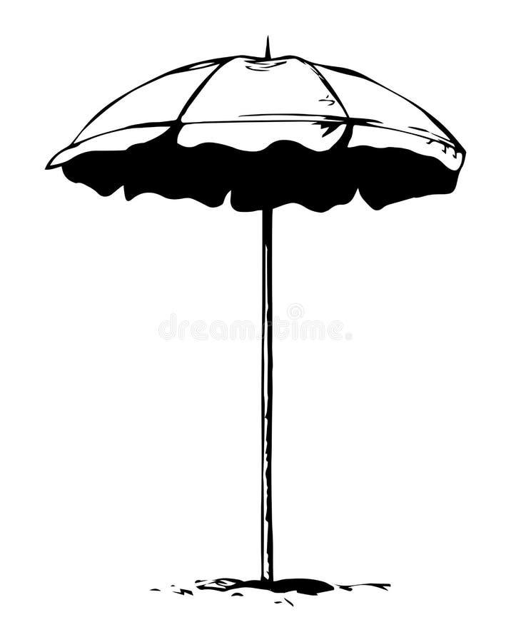 parasol ανασκόπηση που σύρει το floral διάνυσμα χλόης διανυσματική απεικόνιση