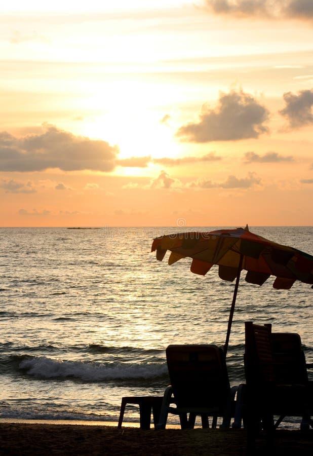 parasol ηλιοβασίλεμα στοκ φωτογραφίες