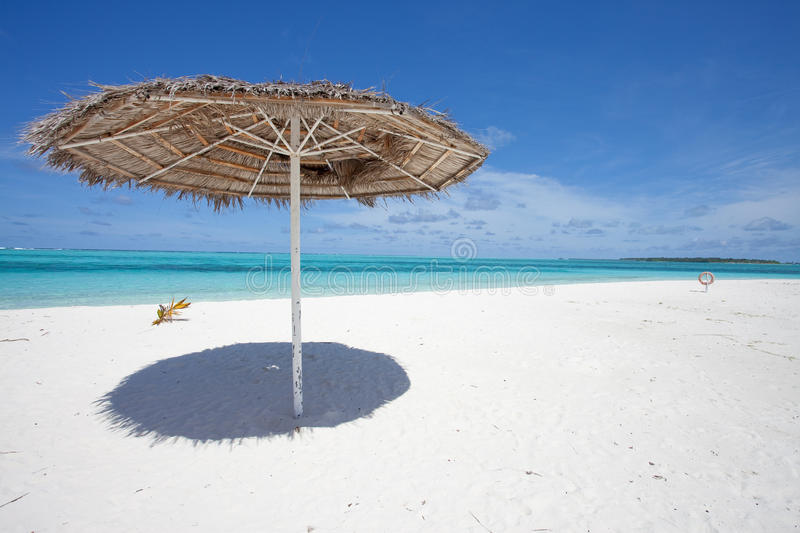 Download Parasol stock photo. Image of blue, maldives, beach, clouds - 15174320