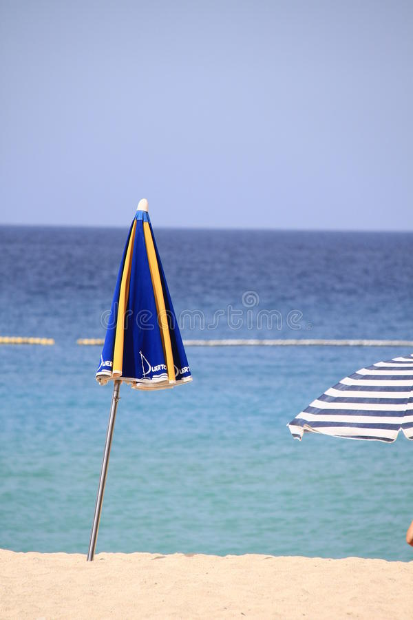Parasol On The Beach Stock Photography