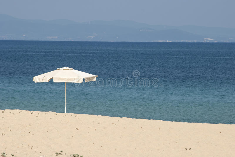 Parasol On Beach Royalty Free Stock Image