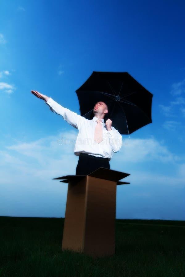 parasol biznesmena obrazy stock