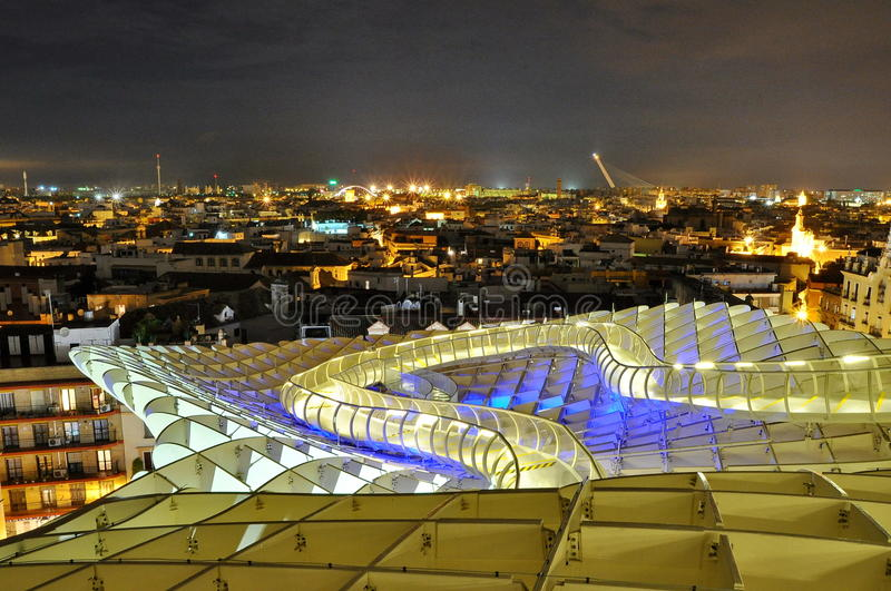 Parasol de Metropol em Sevilha, Spain foto de stock royalty free