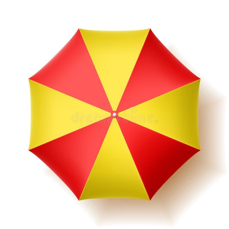 Parasol de playa stock de ilustración