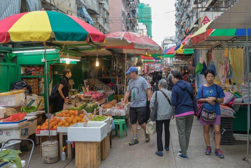 Parasol del mercado callejero foto de archivo