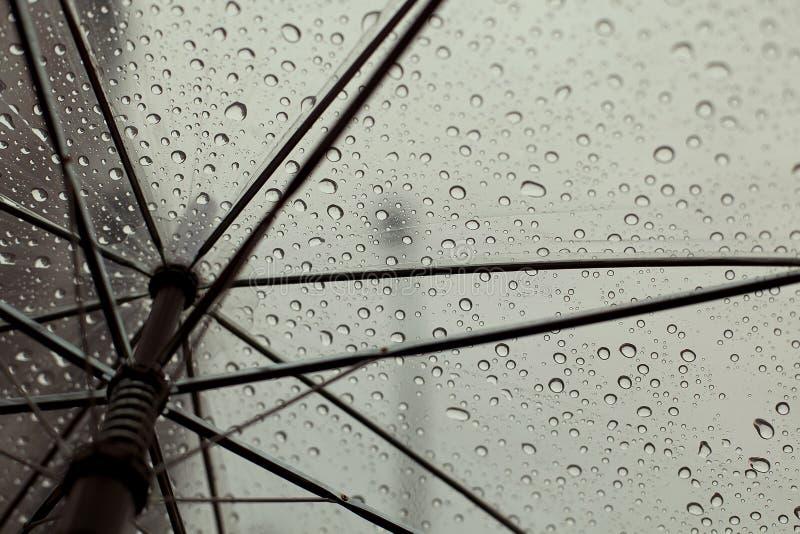 Parasol i deszczu krople zdjęcia royalty free