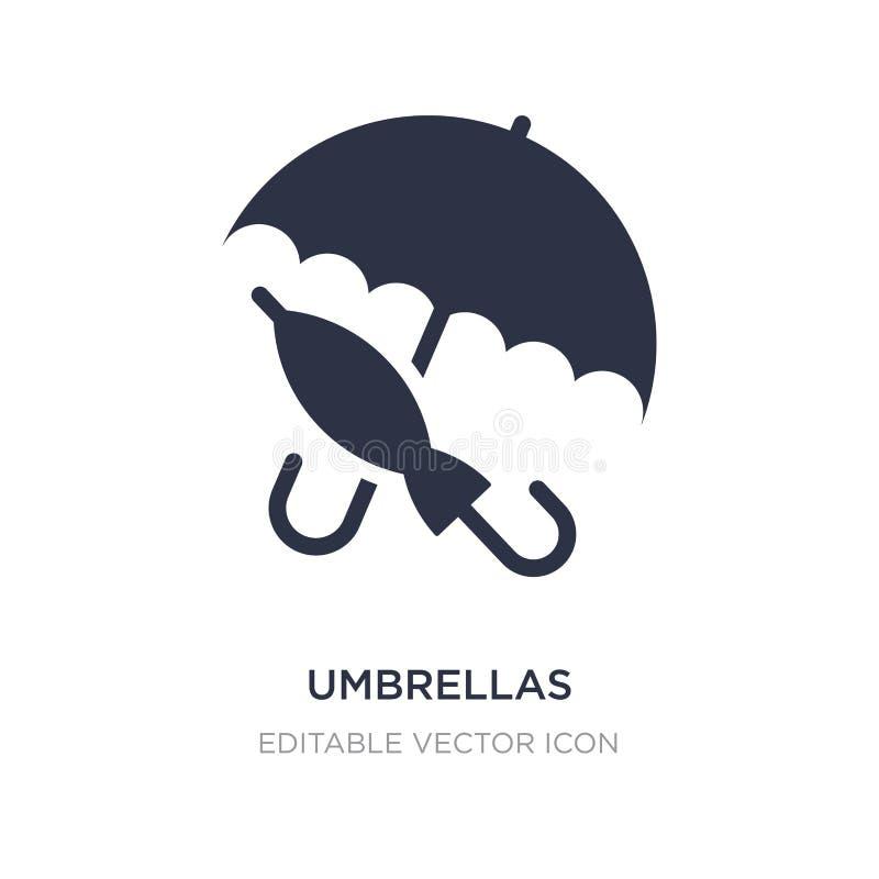 parasol ikona na białym tle Prosta element ilustracja od Pogodowego pojęcia royalty ilustracja