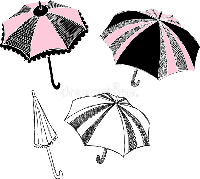 parasol ilustracyjny ilustracja wektor