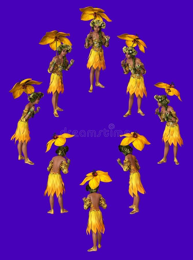 Parasol jaune illustration de vecteur