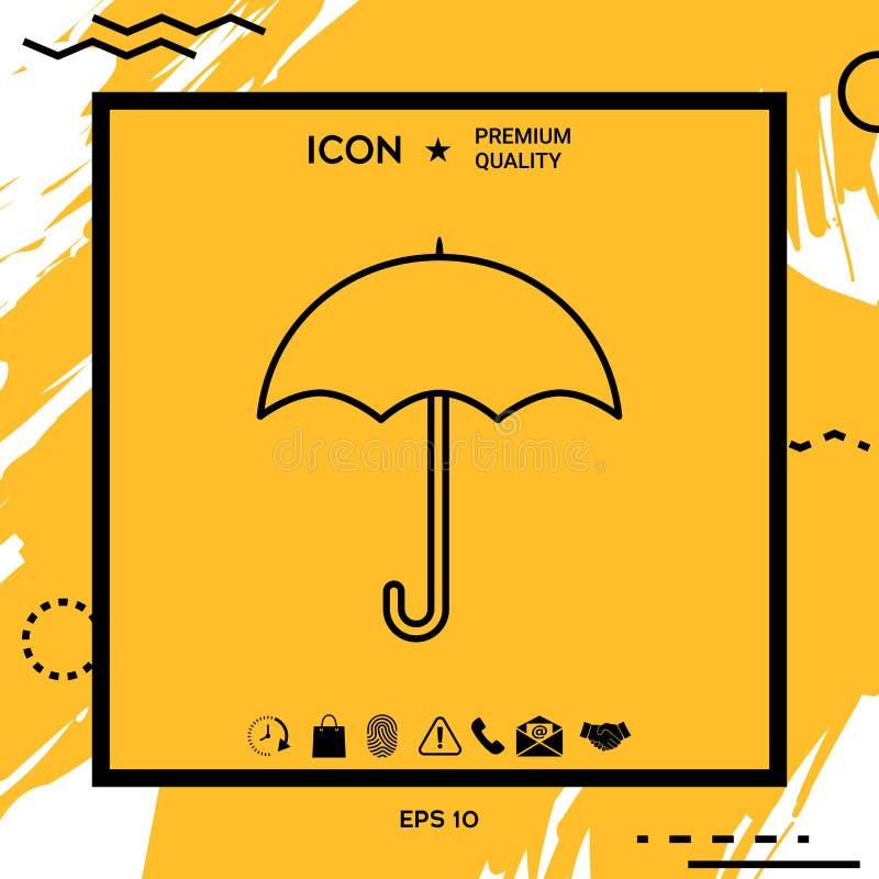 Parasol kreskowa ikona royalty ilustracja