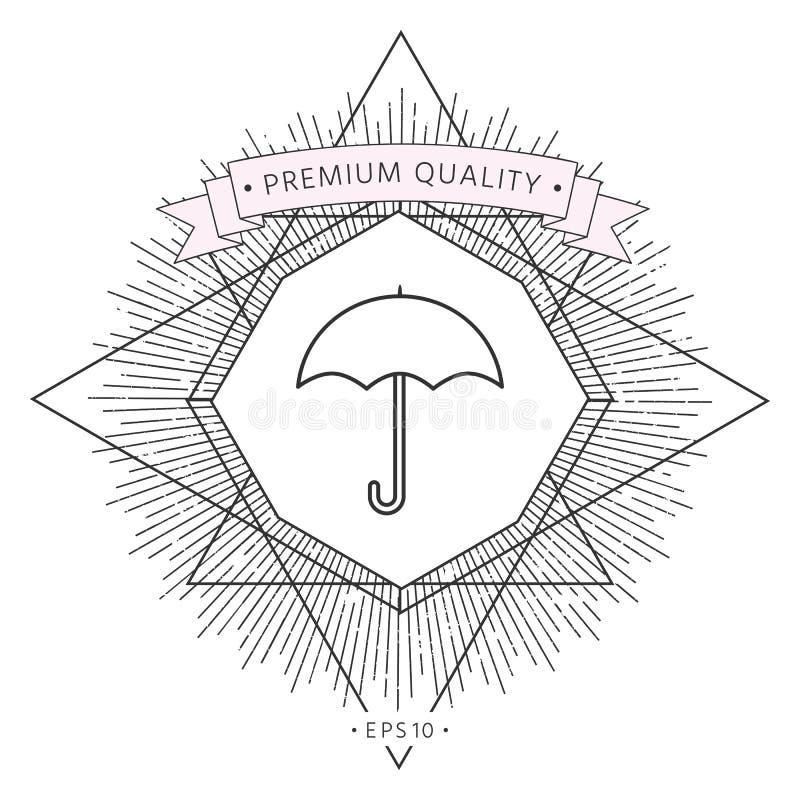 Parasol kreskowa ikona ilustracji