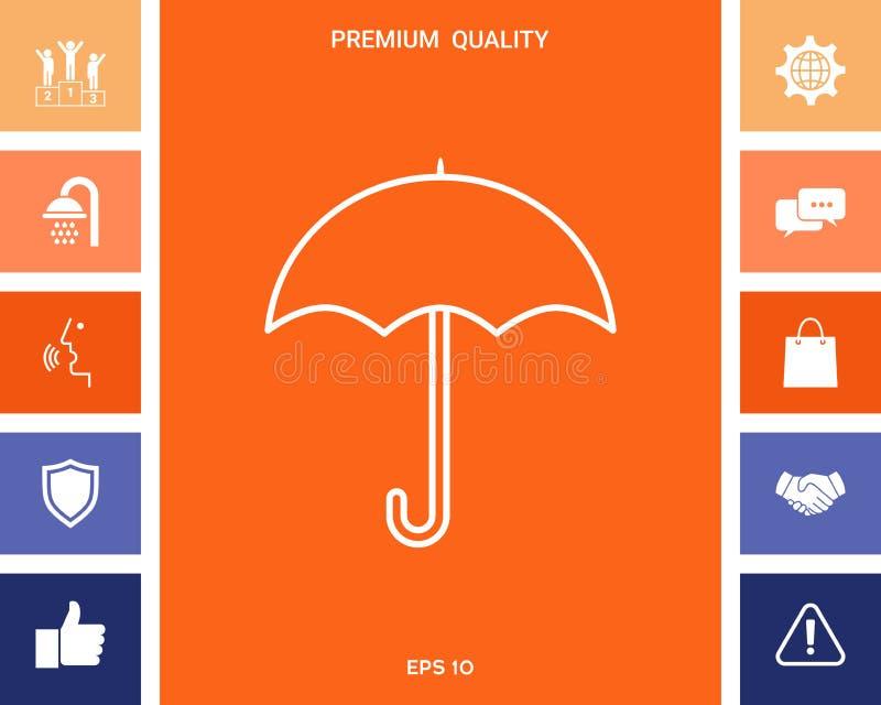 Parasol kreskowa ikona ilustracja wektor