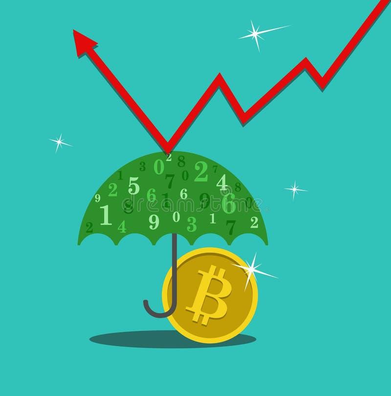 Parasol moneta ilustracja wektor