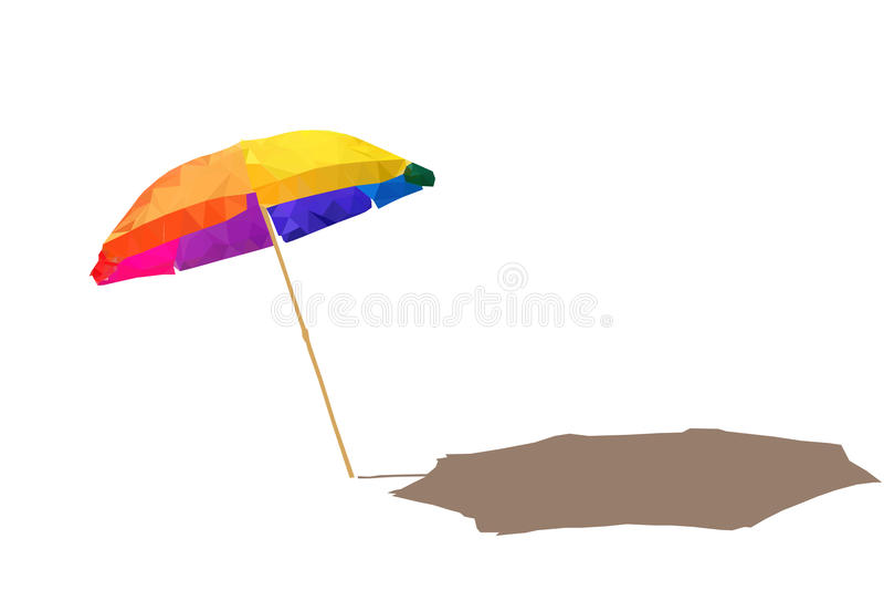 Parasol polygonal photo stock