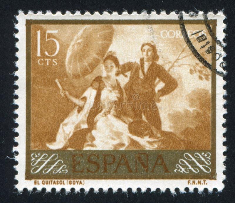 Parasol por Goya foto de archivo libre de regalías