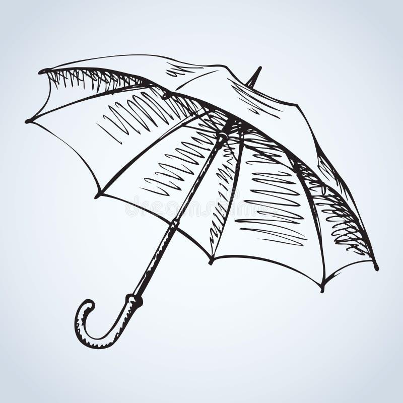 parasol rysuje tła trawy kwiecistego wektora ilustracji