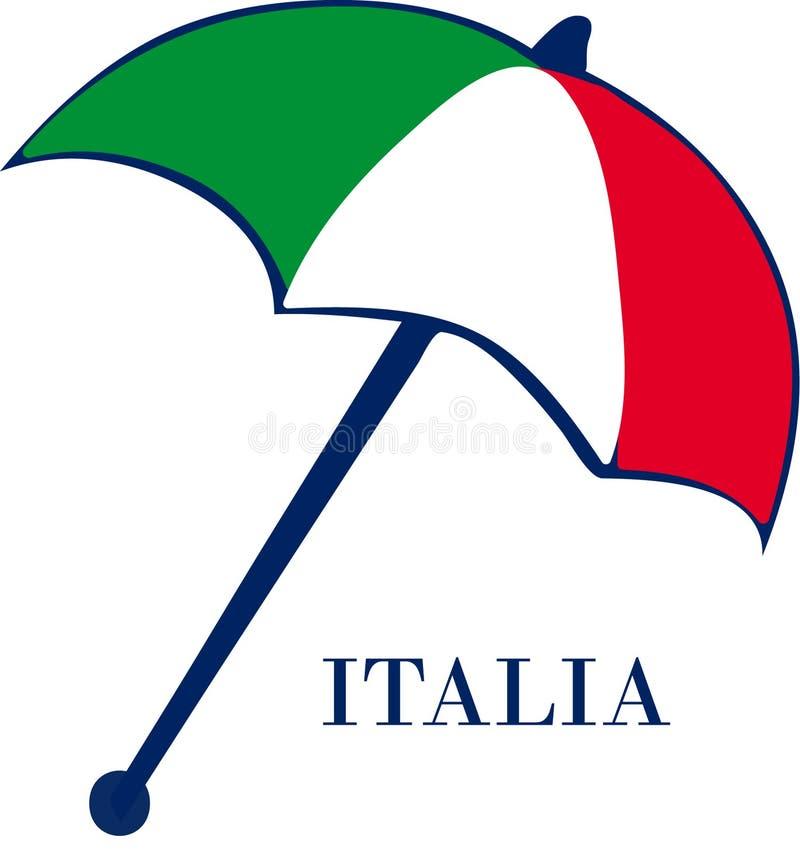 parasol włochy ilustracji