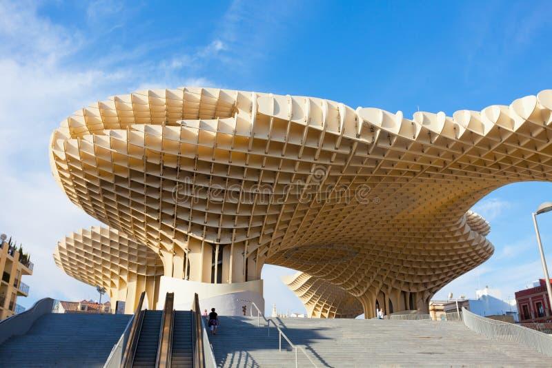Parasole di Metropol in Plaza de la Encarnacion a Sevilla fotografia stock libera da diritti