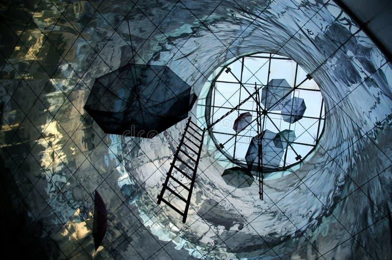 Parasole i drabina zdjęcie royalty free