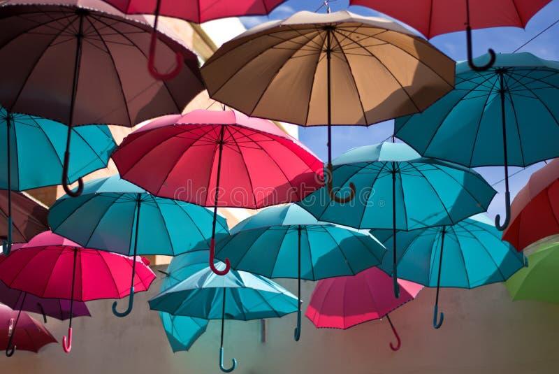 Parasole od spektakularnych kolorów zdjęcie stock