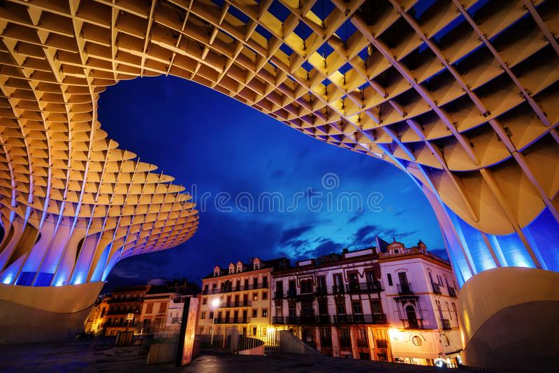 Parasole Sevilla di Metropol fotografie stock
