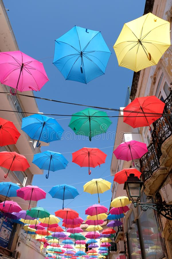 Parasole w Olhao Portugalia fotografia royalty free