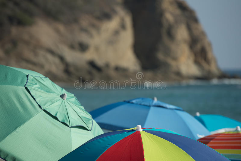 Parasoles de playa imagen de archivo libre de regalías