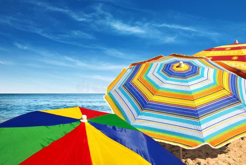 Parasoli variopinti fotografia stock libera da diritti