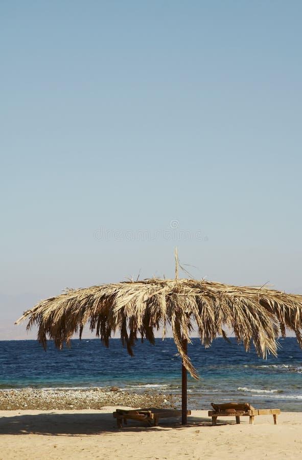 parasolka na plaży zdjęcie stock