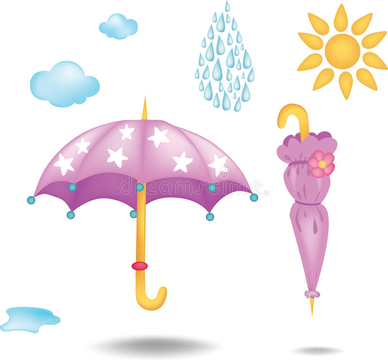 2 parasolki ilustracja wektor