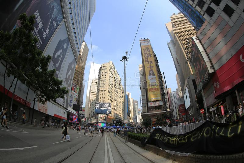 Parasolkowa Rewolucja, hong kong 5 października 2014 zdjęcie stock