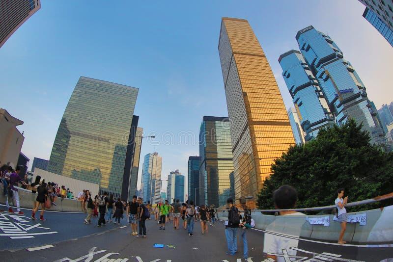 Parasolkowa Rewolucja, hong kong 5 października 2014 zdjęcie royalty free
