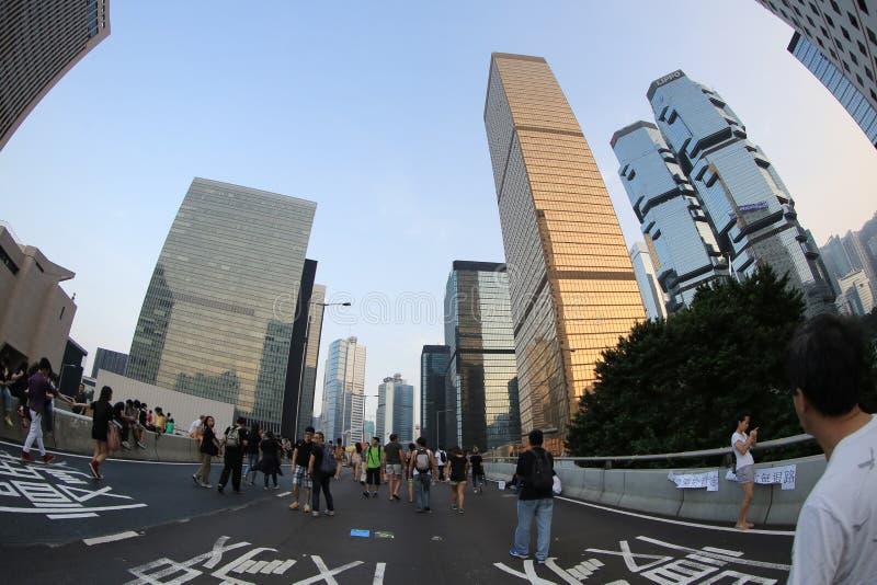 Parasolkowa Rewolucja, hong kong 5 października 2014 obraz stock