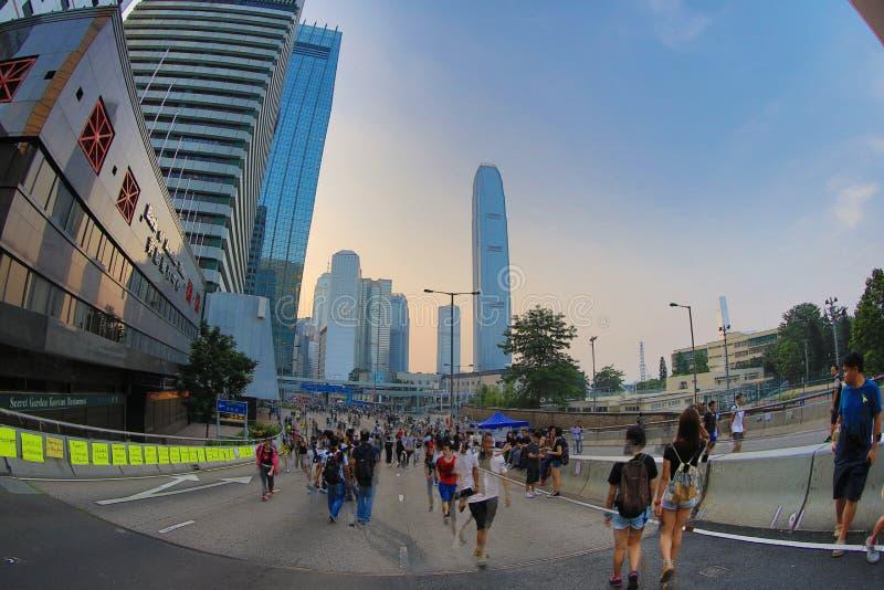 Parasolkowa Rewolucja, hong kong 5 października 2014 obraz royalty free