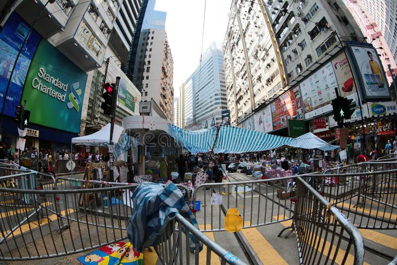 Parasolkowa Rewolucja, hong kong 5 października 2014 zdjęcia royalty free
