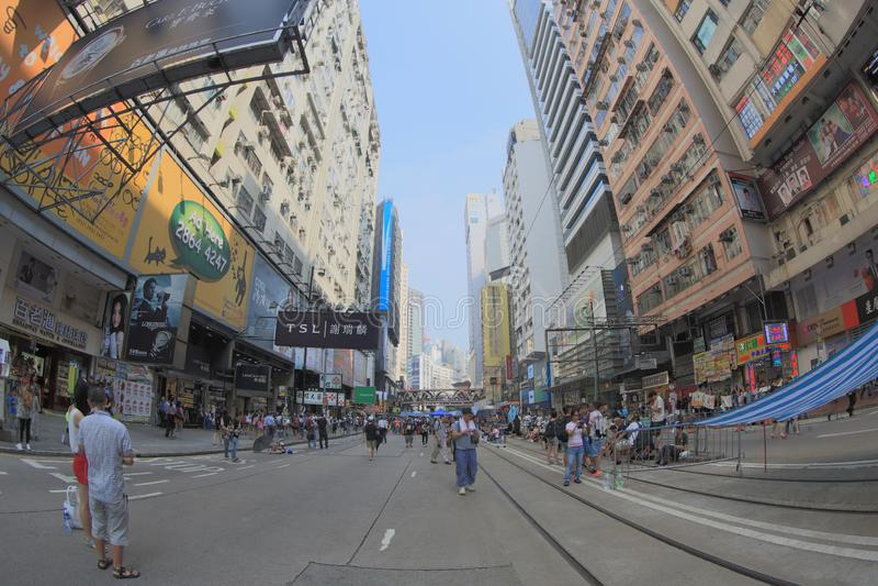 Parasolkowa Rewolucja, hong kong 5 października 2014 obrazy royalty free