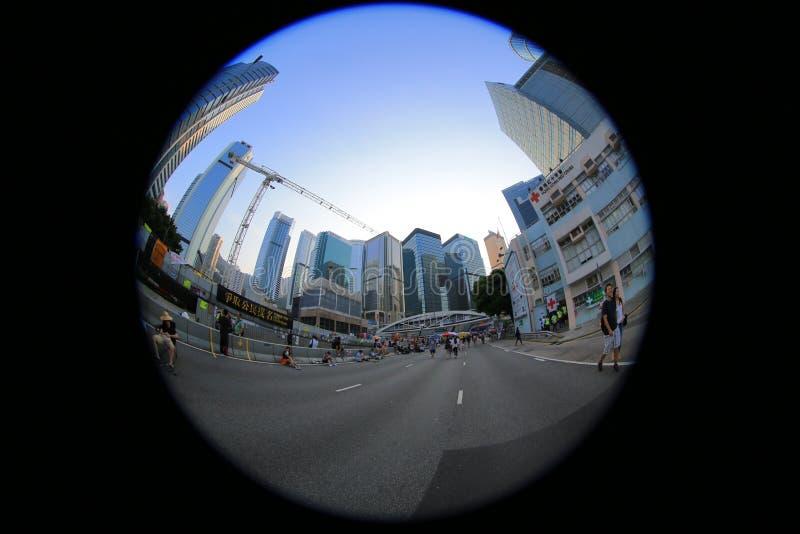 Parasolkowa Rewolucja, hong kong 5 października 2014 obrazy stock