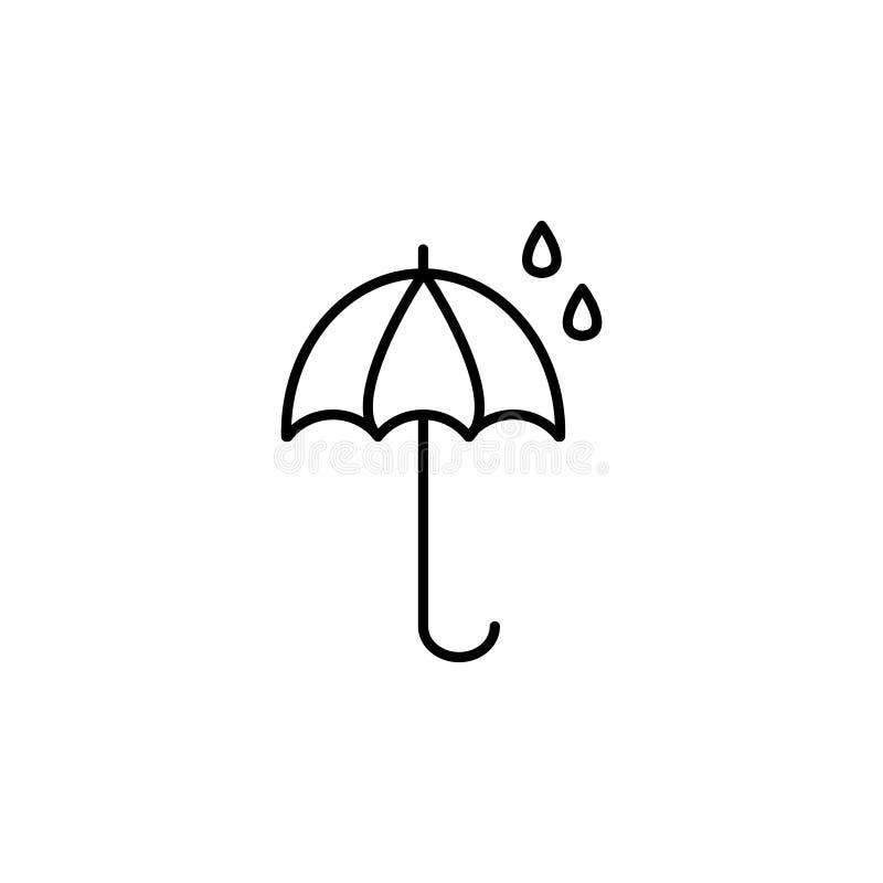 Parasolowa ikony linia wektor royalty ilustracja