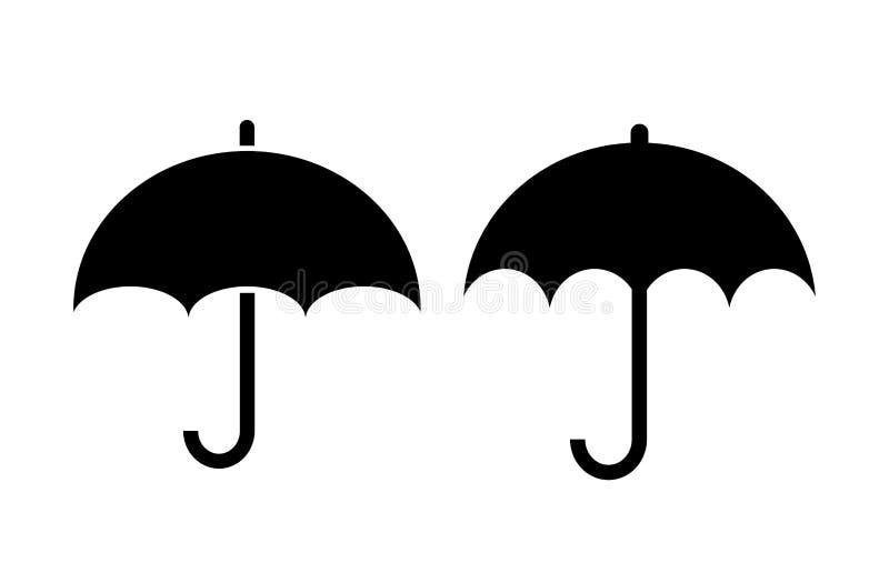 Parasolowa wektorowa ikona ilustracji