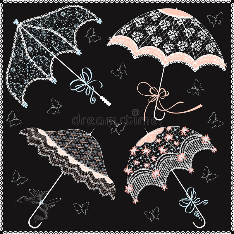 Parasols stock illustratie