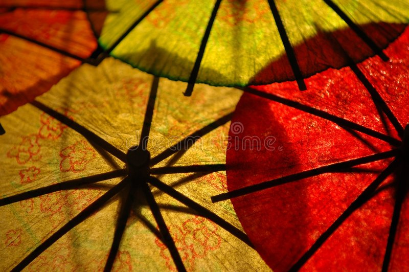 parasols obrazy stock