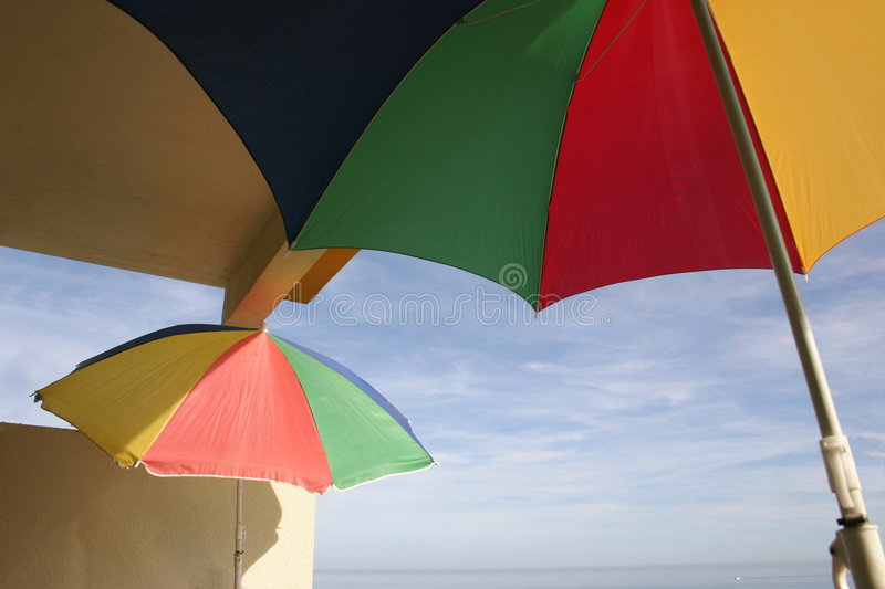 Download Parasols on a balcony stock image. Image of bright, color - 714759