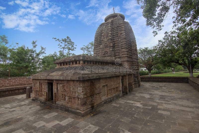 Parasurameshwar temple is one of the oldest temple in Bhubaneshwar, odisha, India. It is built around 7th century. Is considered the best preserved specimen royalty free stock photos