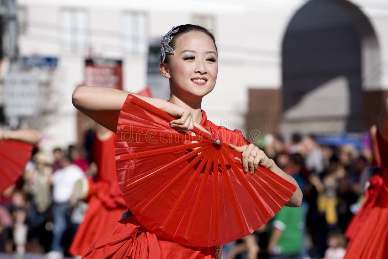 Parata cinese 1 di nuovo anno fotografia stock